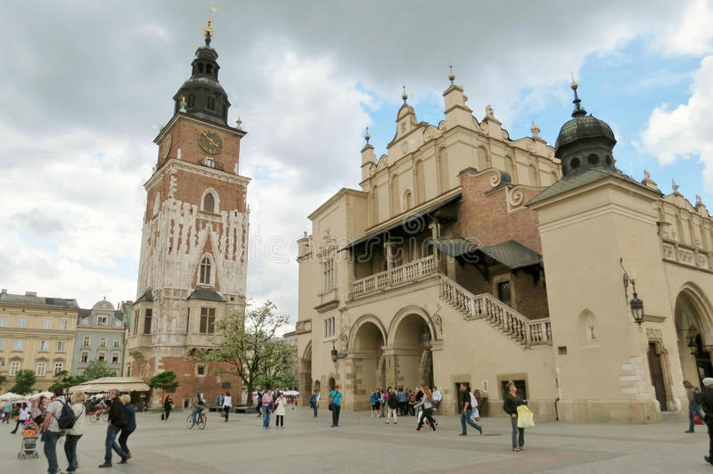 Cracovie Rynek Townsquare photo libre de droits