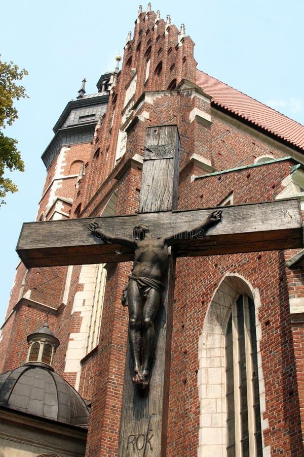 cracow перекрестный jesus стоковая фотография
