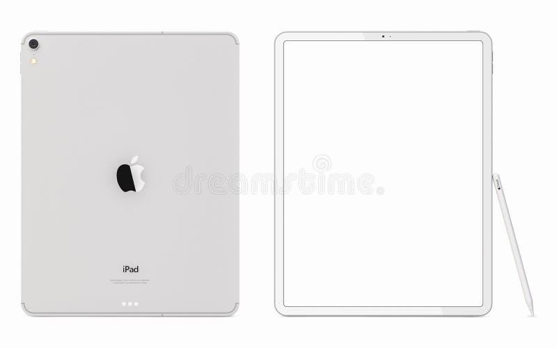 Cracow, Польша - 31-ое ноября 2018: iPad Pro новая версия планшета от Яблока стоковые изображения rf