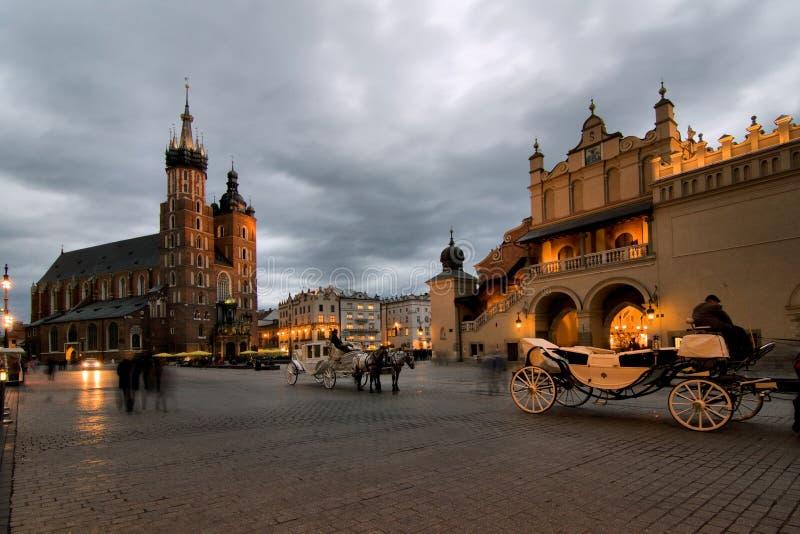 Cracow (Krakow) em Poland fotos de stock