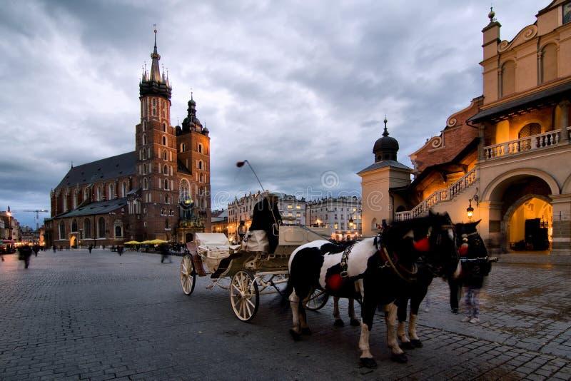 Cracow (Krakow) em Poland fotografia de stock