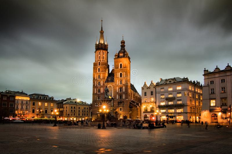 Cracow (Krakow) in Poland royalty free stock images