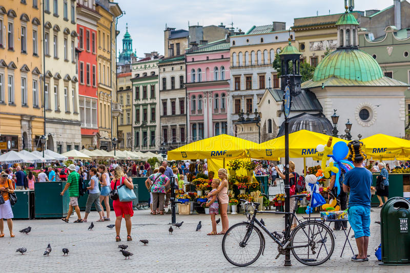 Cracow (Krakow), Poland-Colorful Old Town stock photo