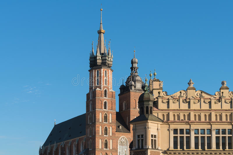 Cracow Krakow, Poland - Landmarks of the Old Town: St. Mary`s royalty free stock photography