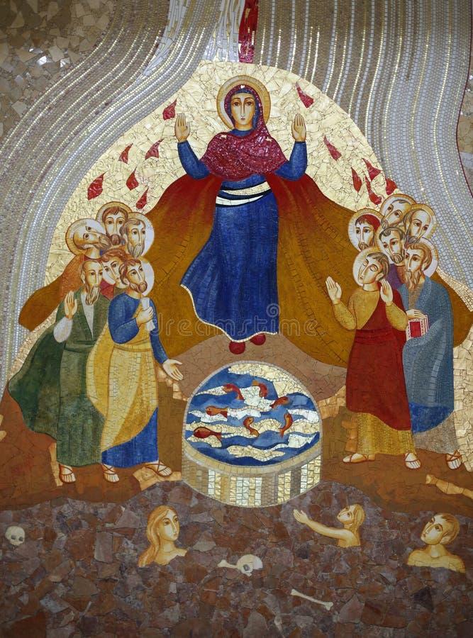Cracow Lagiewniki - mitten av påven John Paul II royaltyfria bilder