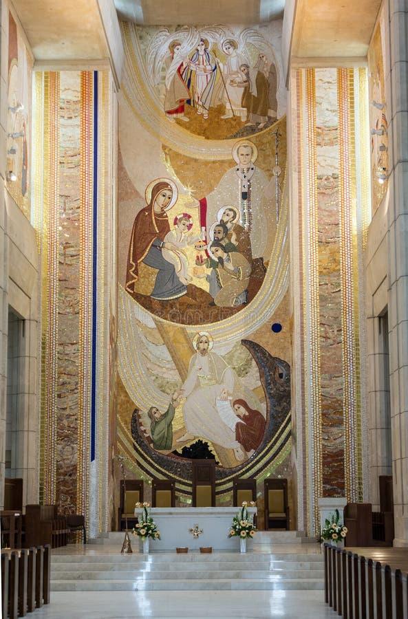 Cracow, Lagiewniki - o centro do papa John Paul II imagem de stock
