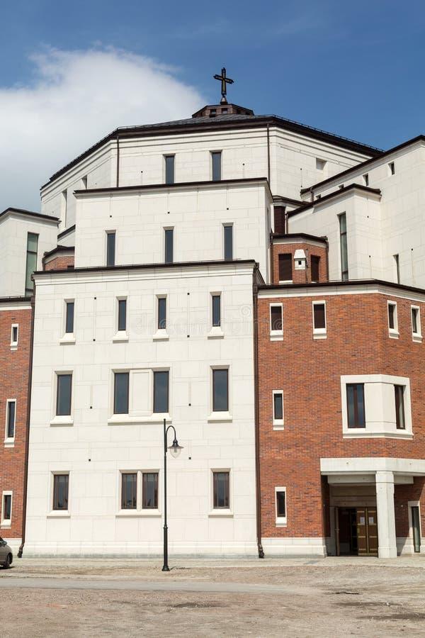 Cracow, Lagiewniki - o centro do papa John Paul II fotografia de stock royalty free