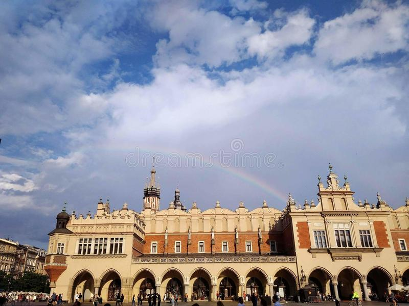 Cracow Main Square stock images