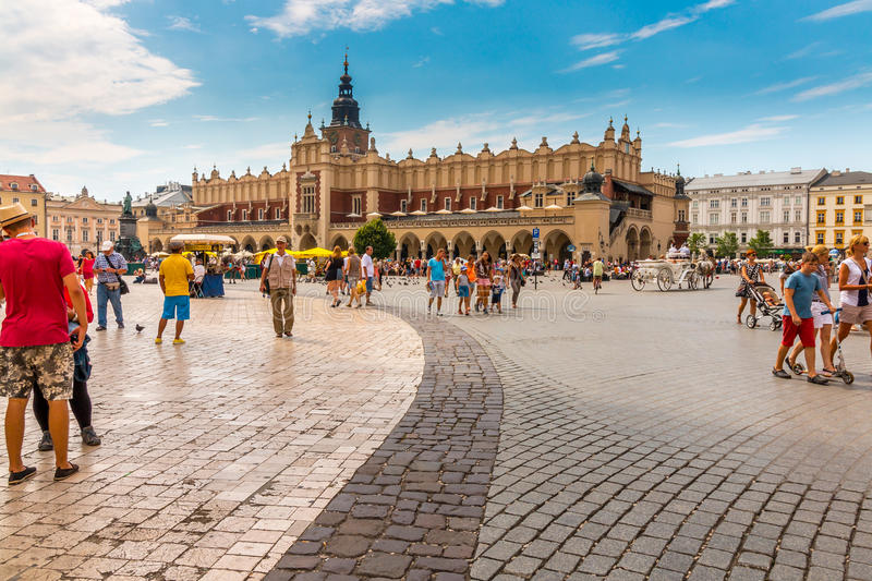 Cracow, Poland- Cloth Hall (Sukiennice)-Main Market Square royalty free stock photography