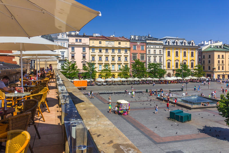 Cracow-Poland-Main Market Square stock photos