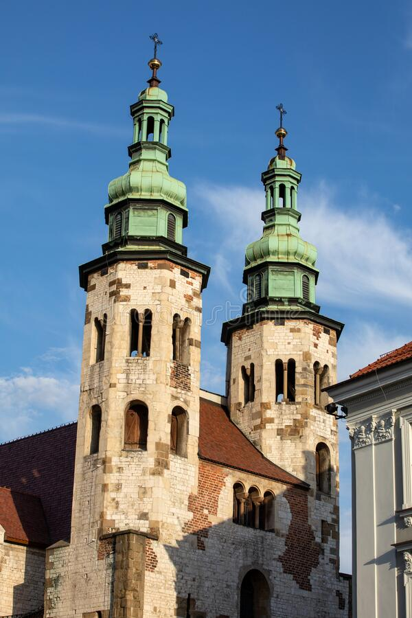 Cracow, Poland. Romanesque church of St Andrew,. Built between 1079 - 1098 stock photography