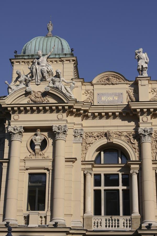 cracow slowacki theatre obrazy royalty free