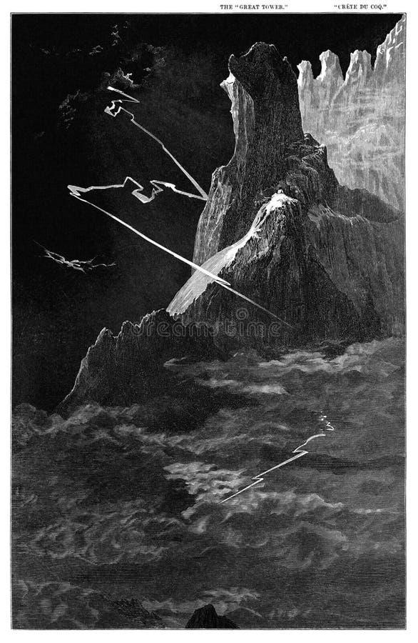 Cracs of the Matterhorn royalty free stock photos