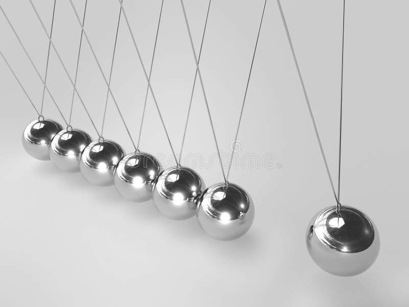 cradle balansera bollar 3d newton s stock illustrationer
