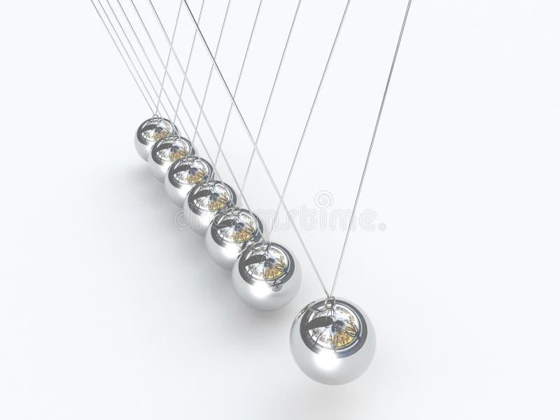 cradle balansera bollar 3d newton s vektor illustrationer