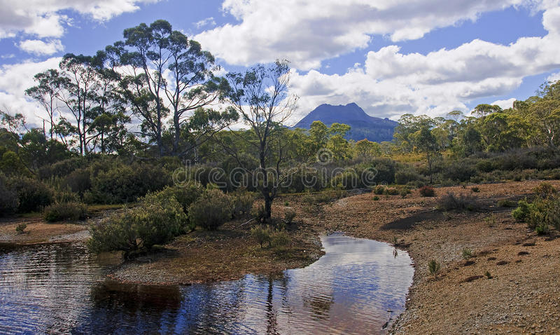 Cradle Mountain and Lake St. Clair in Tasmania (Australia). View of Cradle Mountain and Lake St. Clair in Tasmania (Australia stock photography