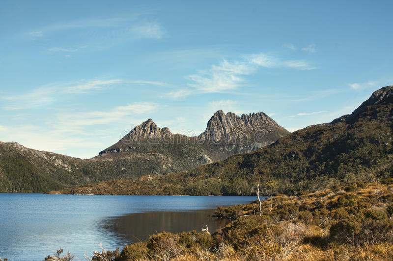 Cradlel-Berg in Tasmanien lizenzfreie stockfotos