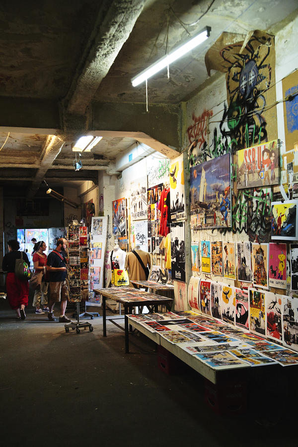 Craft Art exhibition in Kunsthaus Tacheles. The Kunsthaus Tacheles is a former department store which now houses a self-organized collective of artists on royalty free stock photography