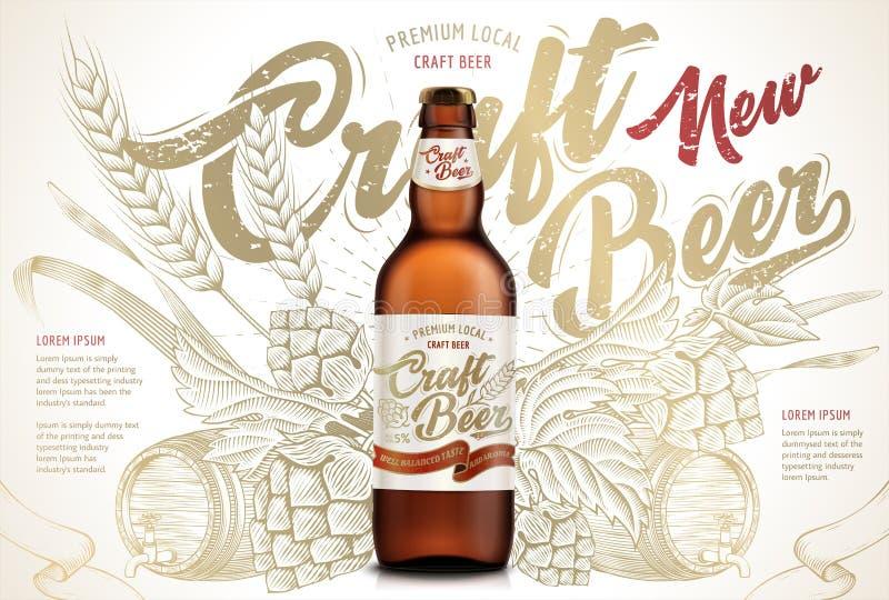 Craft beer ads royalty free illustration