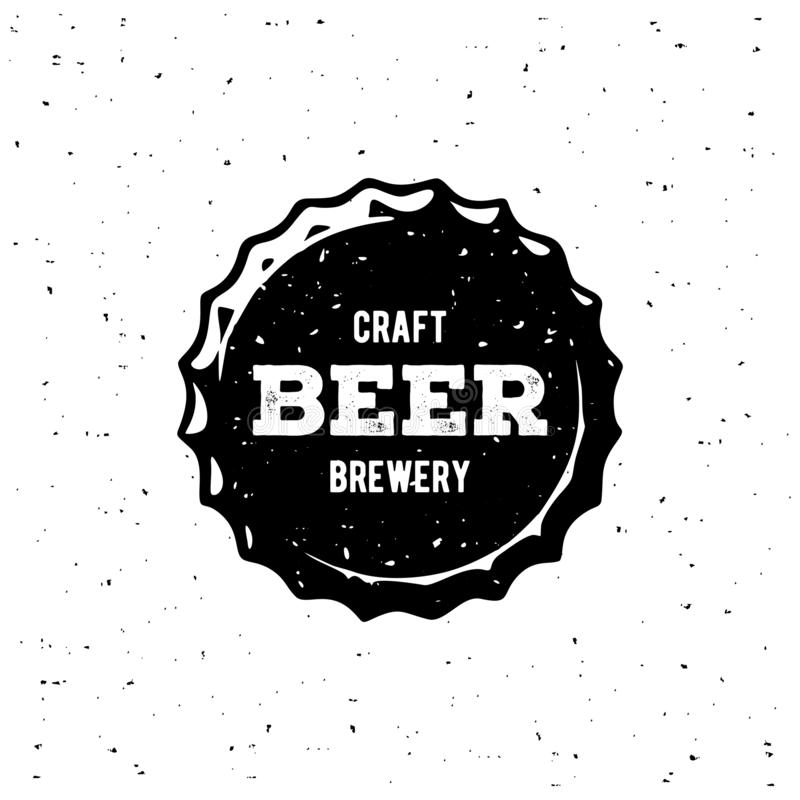 Craft Beer Brewery Cap White. Vector Illustration stock illustration