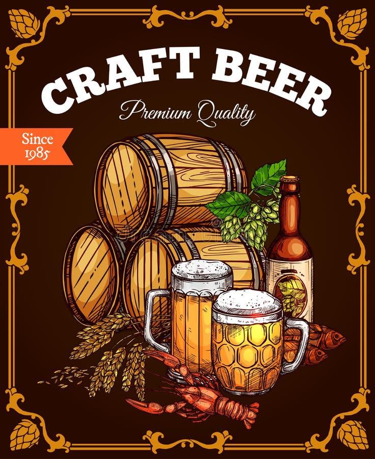 Free Craft Beer Pub Bar Vector Retro Poster Royalty Free Stock Photos - 90332598
