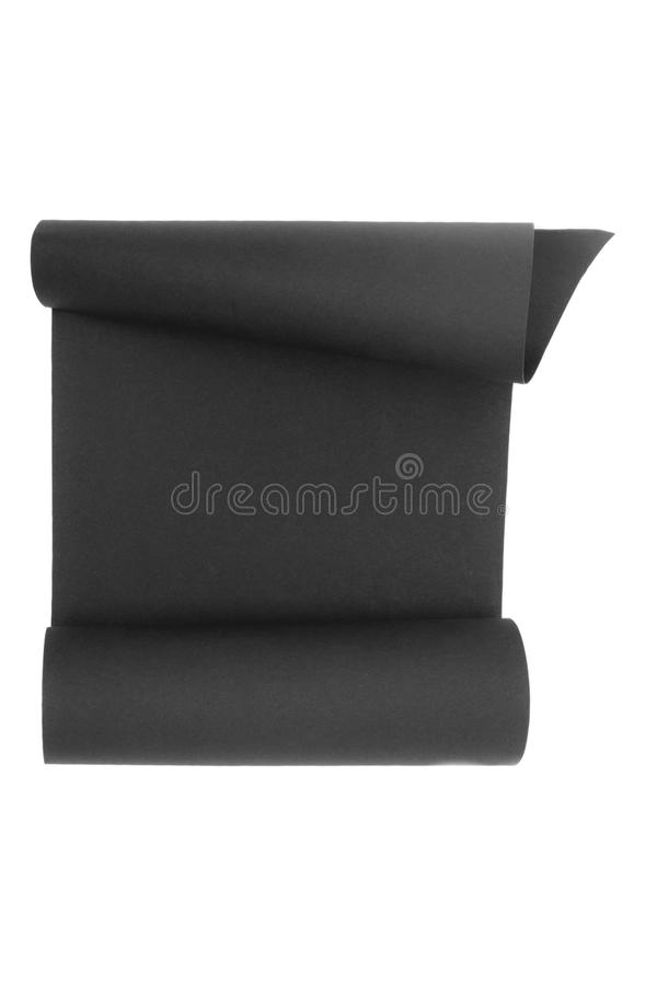 Craft black scroll paper royalty free stock image