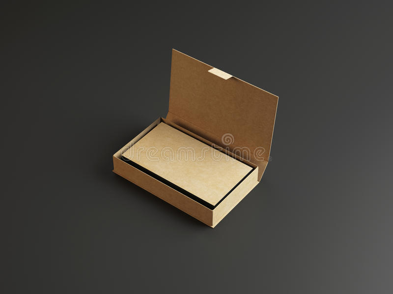 Craft Business Cards In The Cardboarding Box Stock Illustration ...