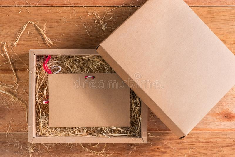 Craft card in box stock image