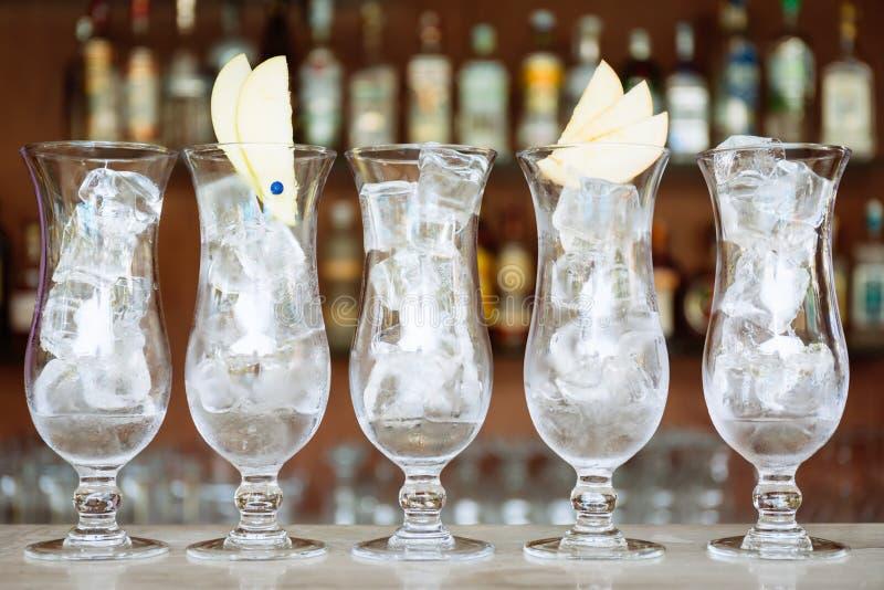 Craft cocktails at the resort bar. Vacation, summer, holiday, lu royalty free stock image