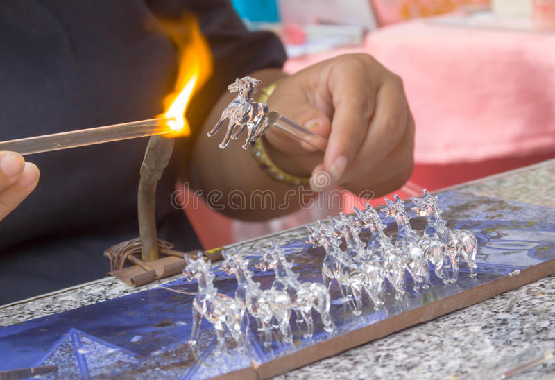 Craft. S, glass blowing is a horse stock photos