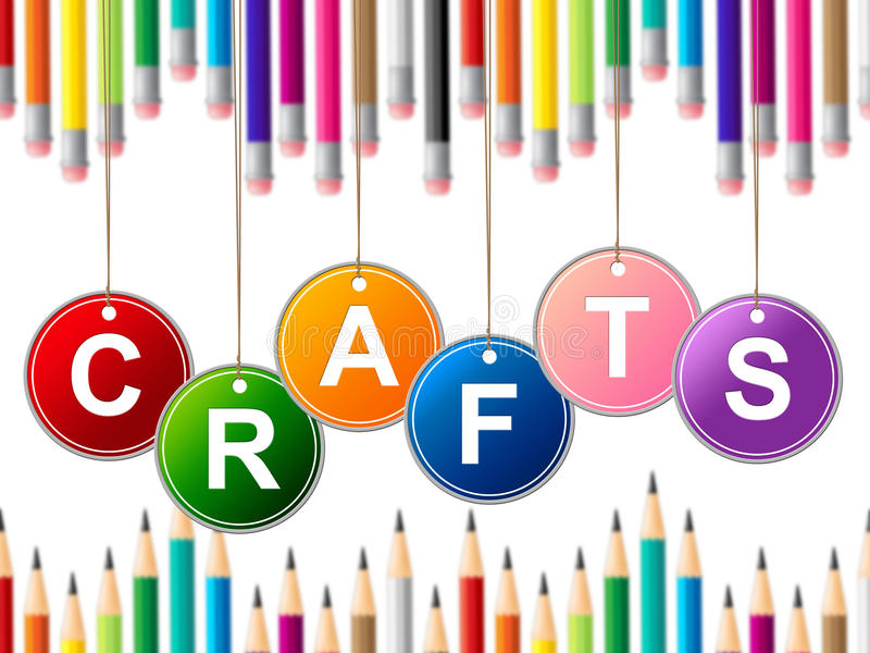 Craft Crafts Indicates Drawing Arts And Artwork royalty free illustration