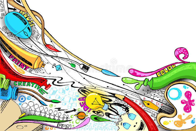 Craft Doddle vector illustration