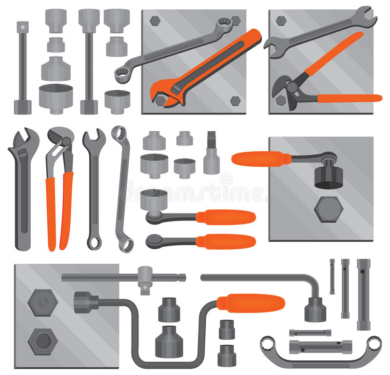 Free Craft Icons – Hand Tools (Set 6) Royalty Free Stock Image - 11691966