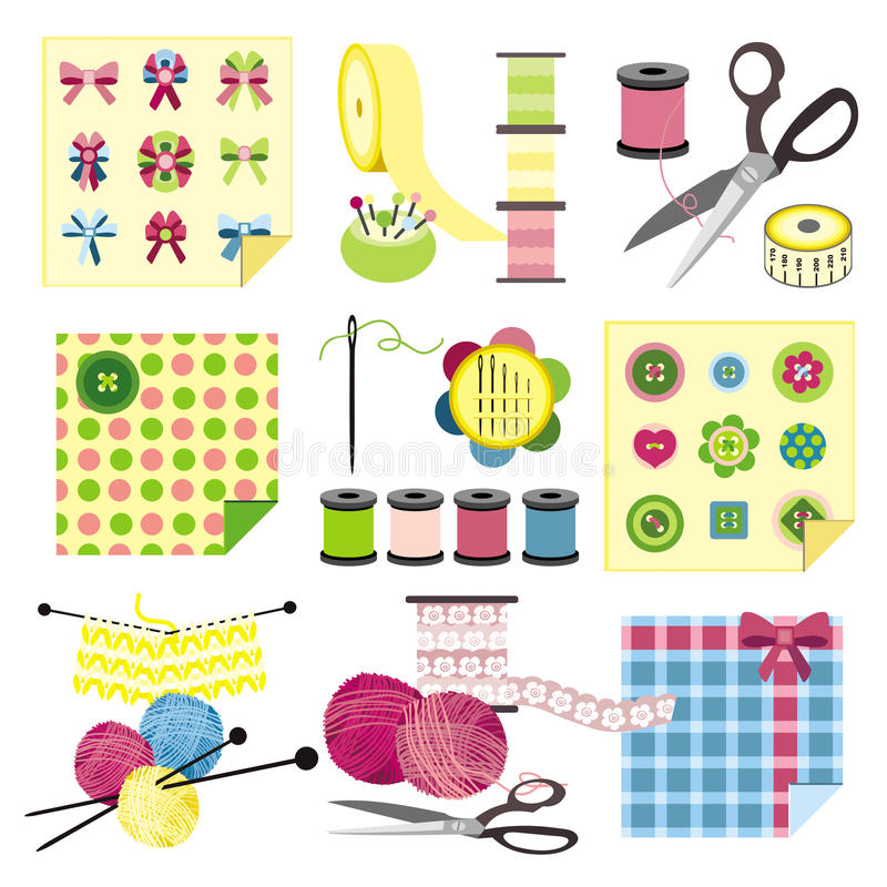 Download Craft icons - Sewing stock vector. Illustration of quilt - 11121106