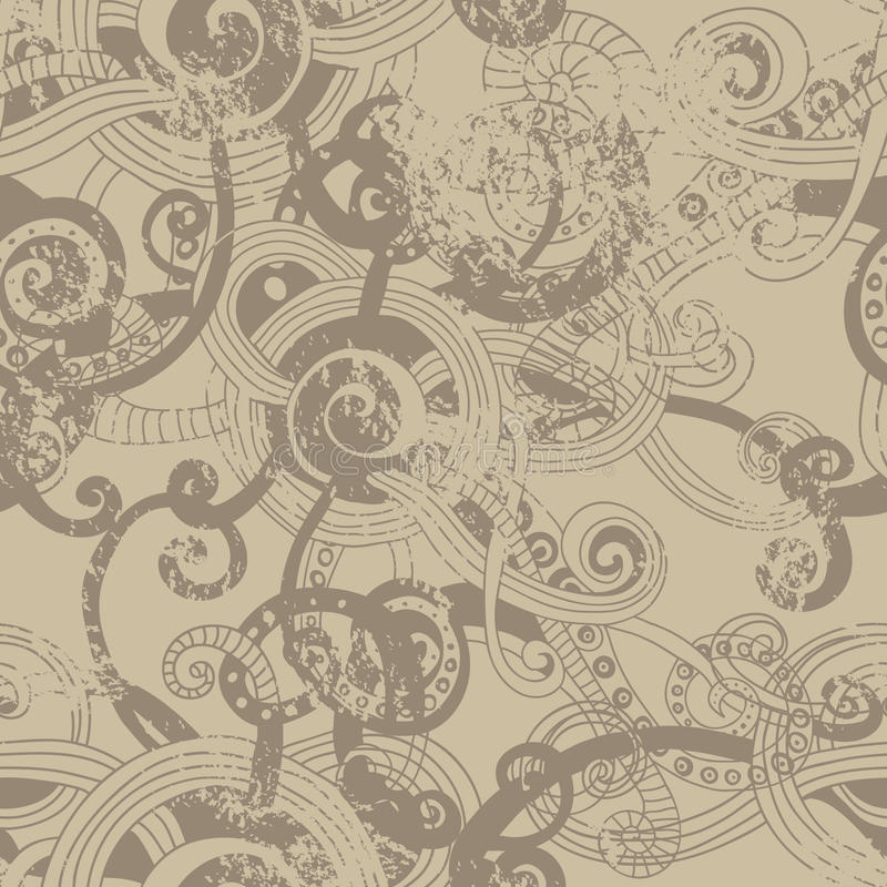 Craft paper seamless pattern. Craft paper theme stylized hand drawn vector seamless background royalty free illustration