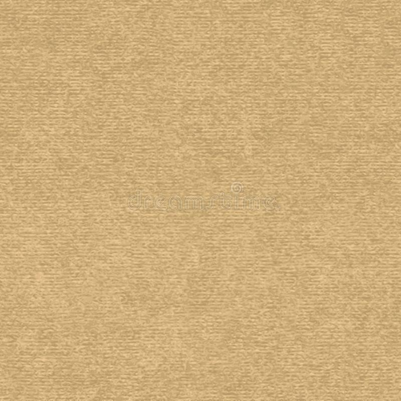 Craft paper seamless vector texture. Brown craft paper with speckle seamless vector texture. Close-up of old cardboard or parchment background stock illustration
