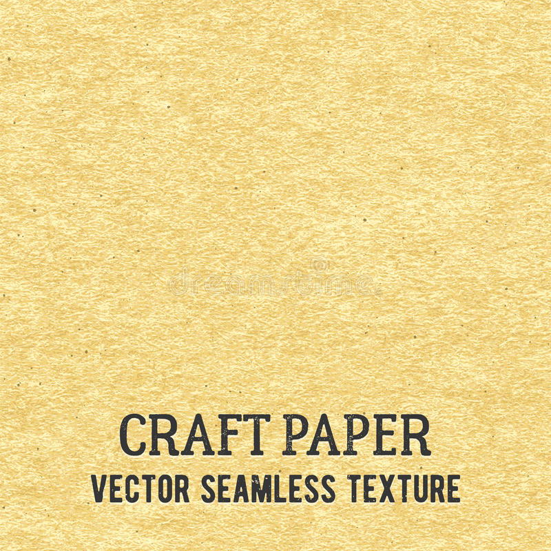Craft paper seamless vector texture. Closeup of realistic beige cardboard or parchment background stock illustration