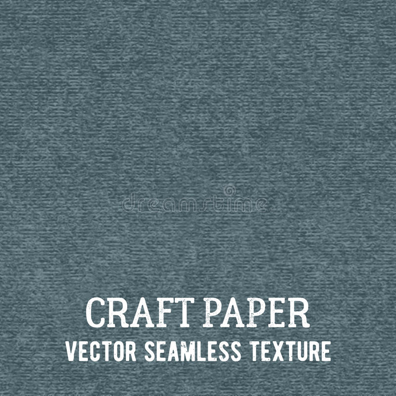 Craft paper seamless vector texture. Closeup of realistic gray cardboard or parchment background stock illustration