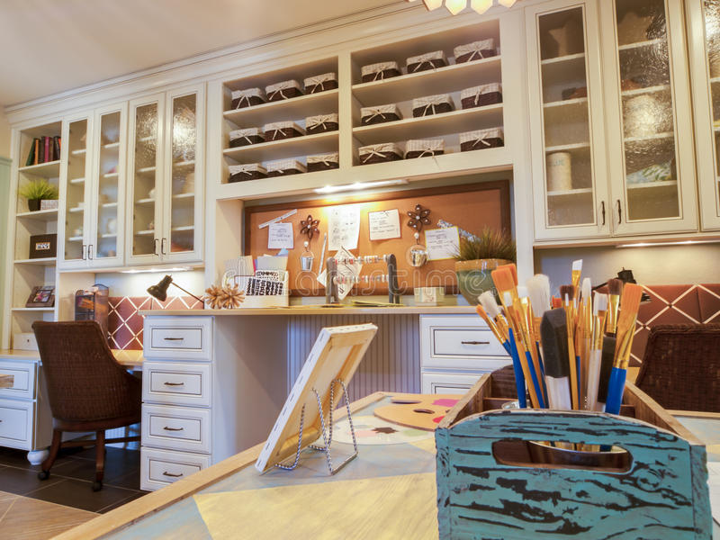 Craft room. Residential interior of modern house royalty free stock photos