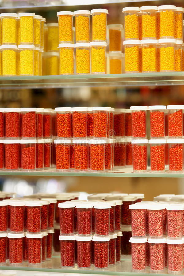 Download Craft Store Items Beads stock image. Image of orange - 13903331