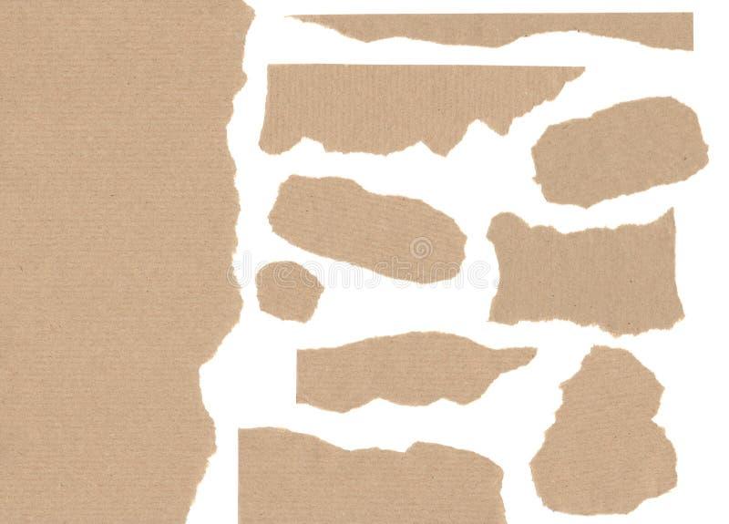 Craft a textura de papel partes rasgadas para o trabalho de arte na alta resolução fotos de stock royalty free