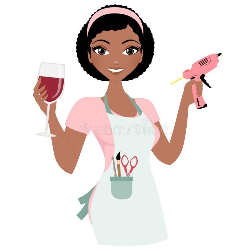 Crafterfrau lizenzfreie abbildung