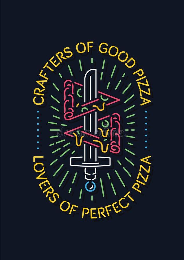 Crafters και εραστές της καλής πίτσας ελεύθερη απεικόνιση δικαιώματος