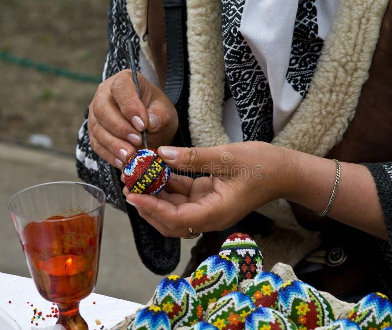 Crafting do ovo de Easter foto de stock royalty free