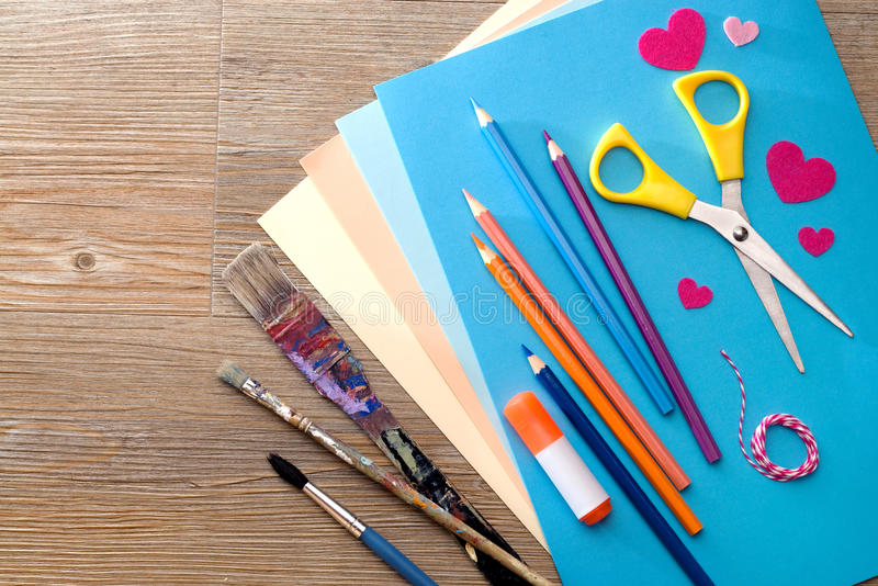 Crafting and painting stock photography