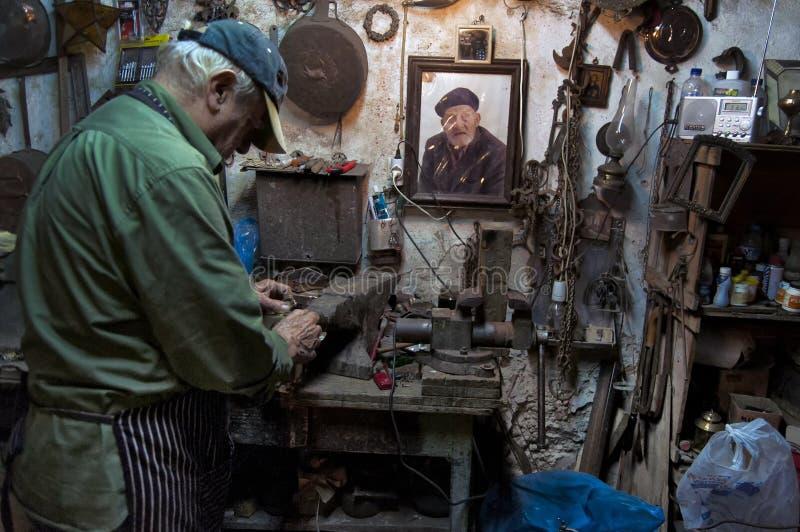 Craftman op het werk royalty-vrije stock foto