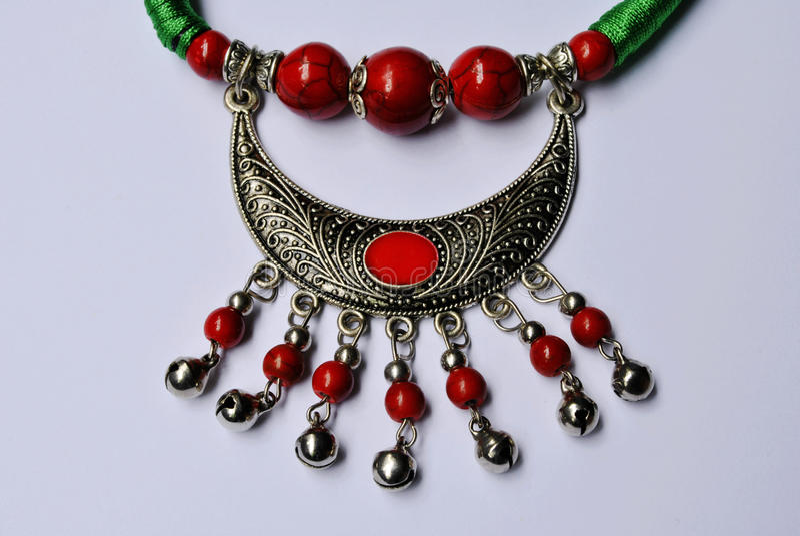 Crafts ornaments beads ornaments minorities stock image