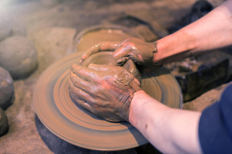 Download Craftsman Artist Making Craft, Pottery, Sculptor From Fresh Wet Stock Photo - Image: 88977324