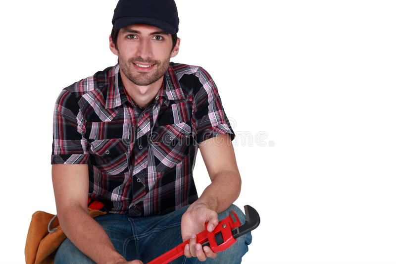 Download Craftsman Holding A Spanner Stock Photography - Image: 32241152