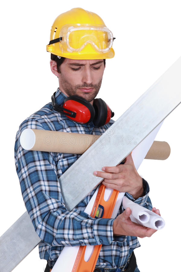 Craftsman holding tools. And wallpapers stock images